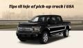 Skal man leje en pickup truck i USA? – liste over pickups og anbefaling